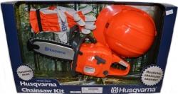 Dětská motorová pila HUSQVARNA + dětské rukavice a helma